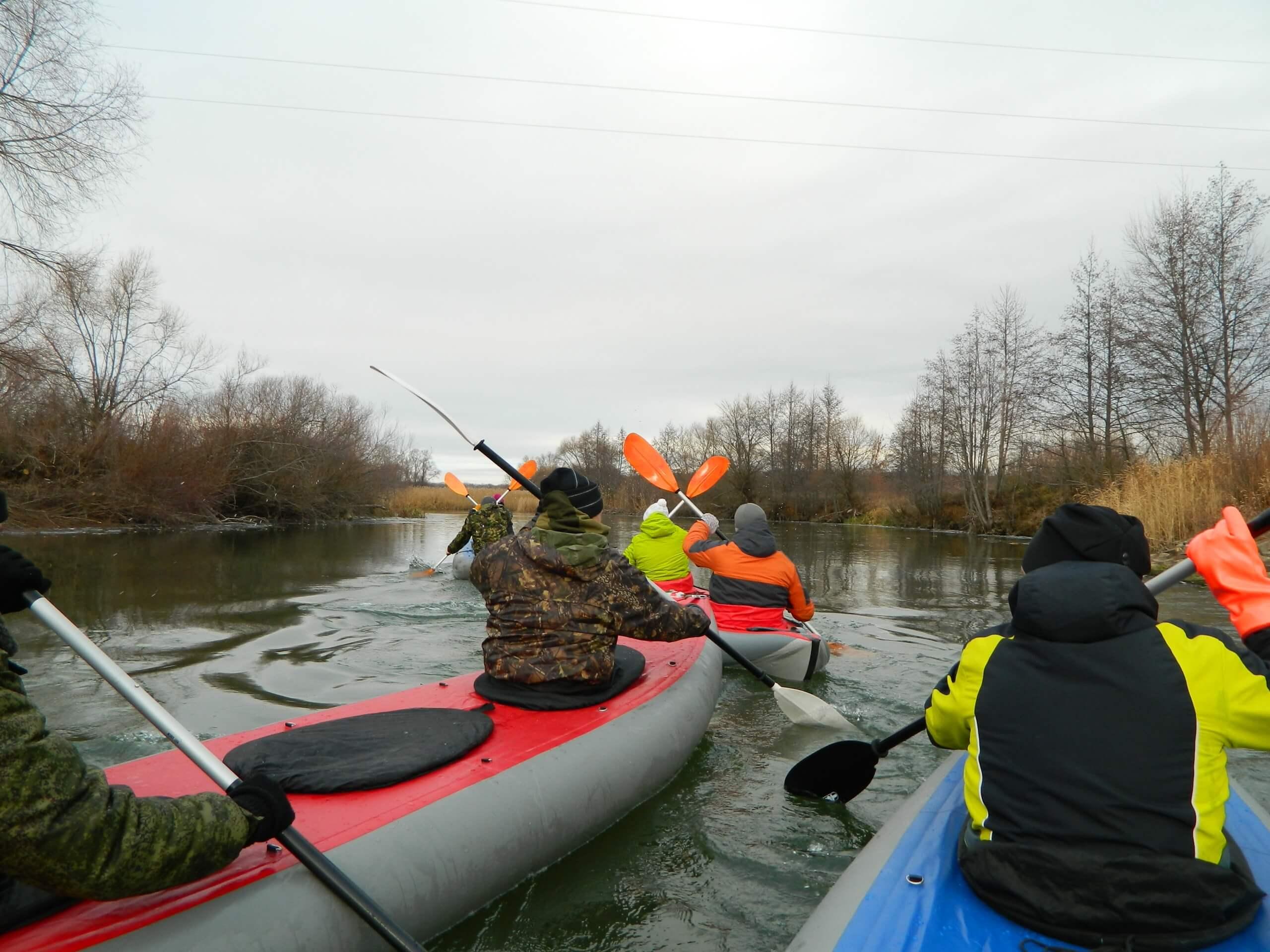 тимбилдинг сплав по реке